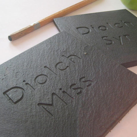 Coaster - Welsh Slate - Diolch Miss / Syr