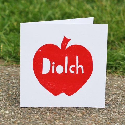 Card - Apple for Teacher - Diolch / Thank You