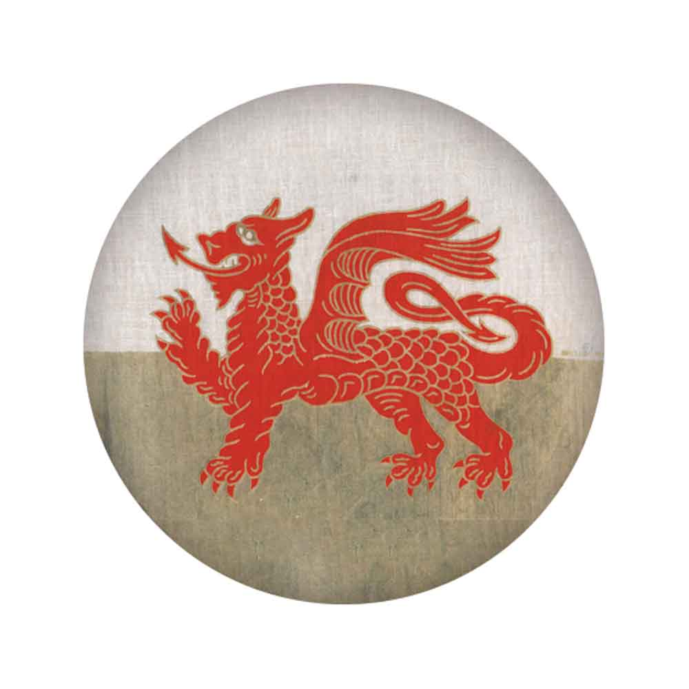 Badge / Pin  - Welsh Dragon - Wales Flag