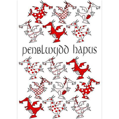 Card - Happy Birthday / Penblwydd Hapus - Dragons-Card-The Welsh Gift Shop