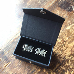 Cufflinks - Welsh Dragon - Sterling Silver or Gold Plated