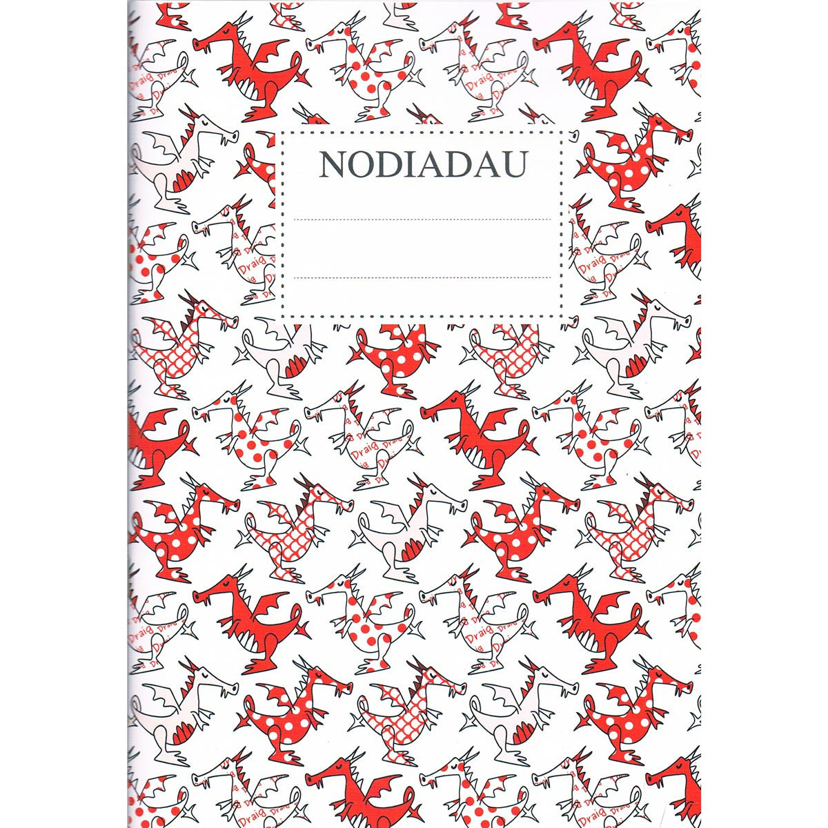 Notebook - Nodiadau - Welsh Dragons - A5-Note Book-The Welsh Gift Shop