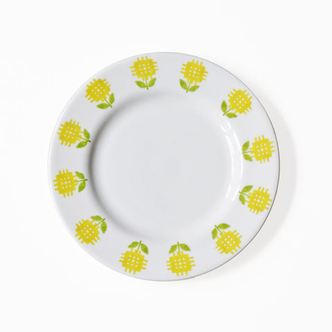 Side Plate - Daffodils / Welsh Tapestry - Exclusive-Kitchen-The Welsh Gift Shop
