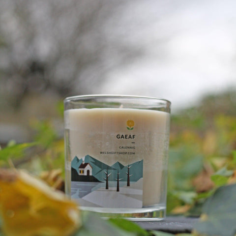 Votive Candle - Y Tymhorau - Gaeaf - Winter-The Welsh Gift Shop