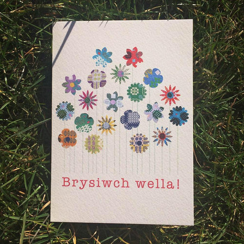 Card - Get Well Soon - Brysiwch Wella!-Card-The Welsh Gift Shop
