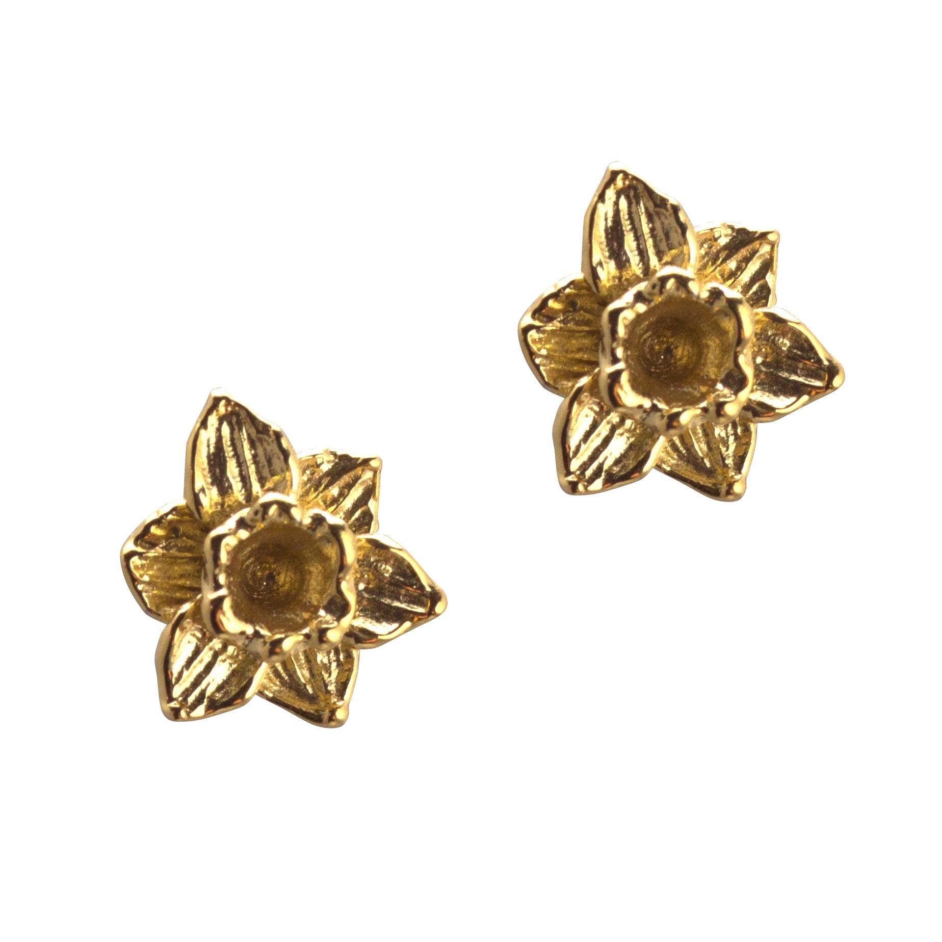 Earrings - Welsh Daffodils - Gold Plated-Jewellery-The Welsh Gift Shop