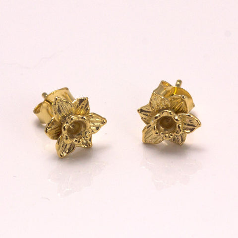 Earrings - Welsh Daffodils - Gold Plated