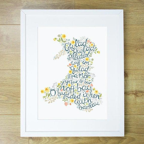 Print - Welsh National Anthem - Hen Wlad Fy Nhadau-Picture / SIgn-The Welsh Gift Shop