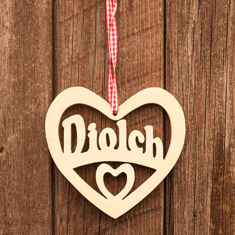 Decoration - Diolch / Thank You - Wooden