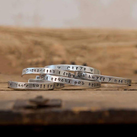Bangle - Hand-stamped Aluminium - Personalised