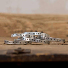 Bangle - Hand-stamped Aluminium - Personalised - Adult