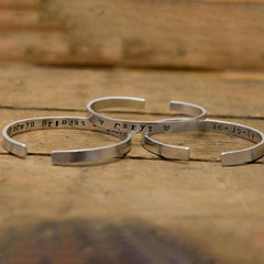 Bangle - Hand-stamped Aluminium - Personalised - Child