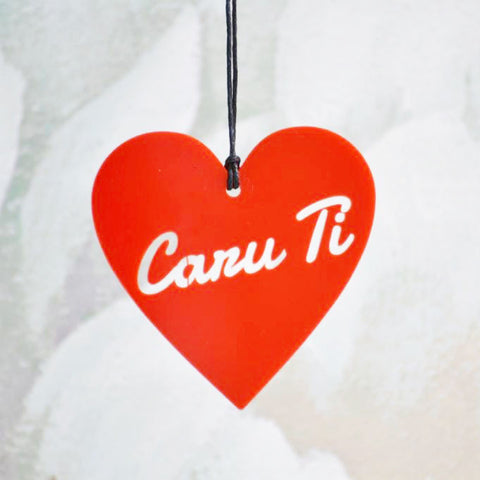 Heart Decoration - Caru Ti & Cara Fi