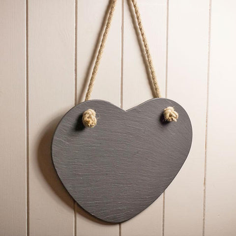 Memo Board - Welsh Slate - Heart - Plain-Picture / SIgn-The Welsh Gift Shop