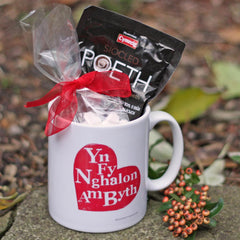 Gift Set - Mug & Welsh Hot Chocolate - Welsh Heart