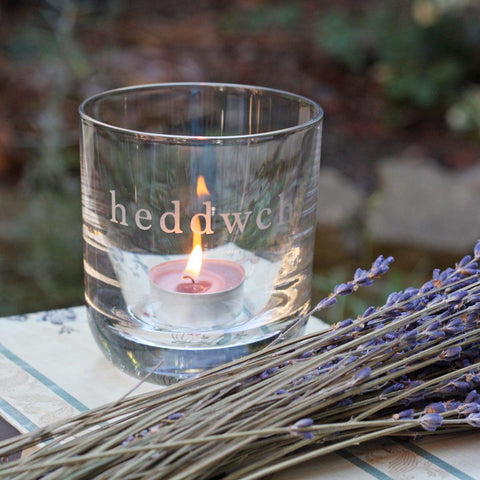 Votive Candle / Tea Light Holder - Heddwch - Peace