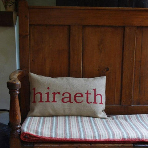 Cushion - Welsh - Hiraeth / Longing for Wales