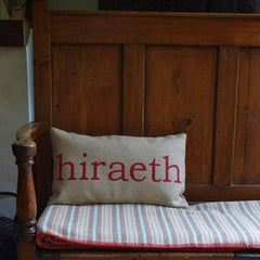 Cushion Cover - Welsh - Hiraeth / Longing for Wales-Pillow-The Welsh Gift Shop
