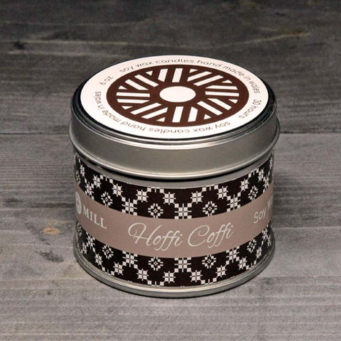 Soy Candle Tin - Handmade - I Like Coffee / Hoffi Coffi