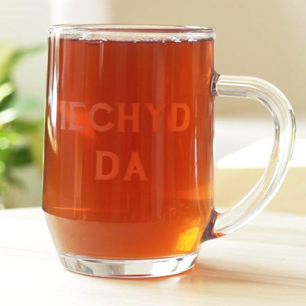 Pint / Beer Glass Tankard - Iechyd Da - Good Health-Kitchen-The Welsh Gift Shop