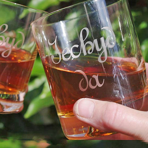 Tumbler / Whisky Glass - Iechyd Da - Good Health - Original-Kitchen-The Welsh Gift Shop