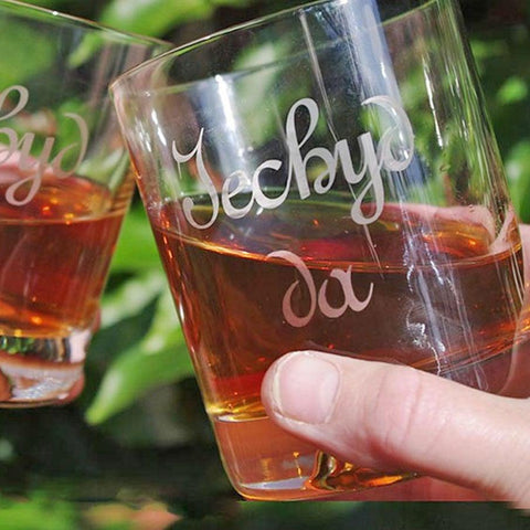 Tumbler / Whisky Glass - Iechyd Da - Good Health - Original