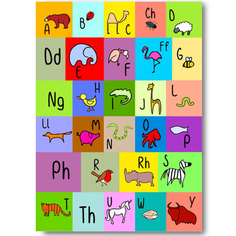 Card - Welsh Alphabet - Illustrated