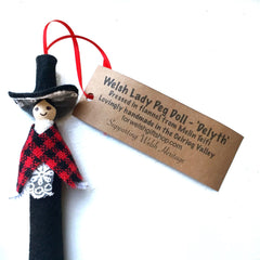 Peg Doll - Welsh Lady - Handmade in Wales-The Welsh Gift Shop