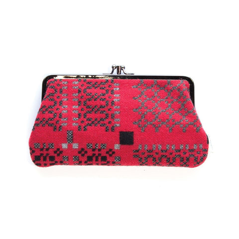 Large Purse - Melin Tregwynt - Welsh Tapestry / Knot Garden - Red