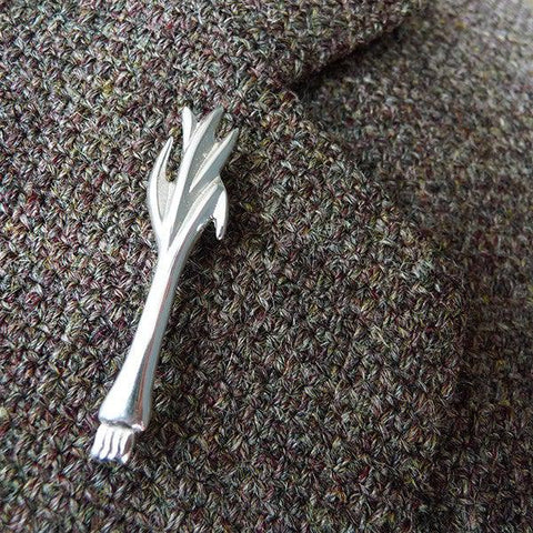 Pin / Brooch - Silver Welsh Leek