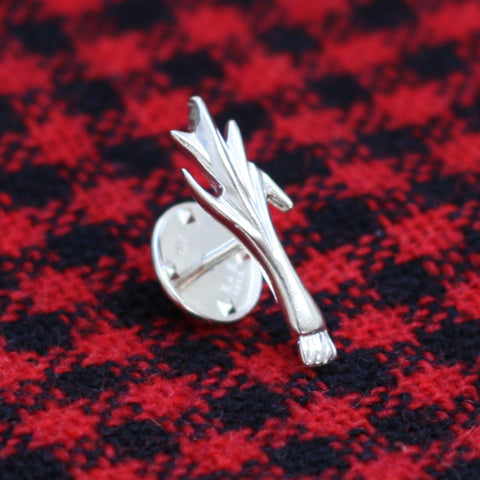 Tie / Lapel / Hat Pin - Silver Welsh Leek