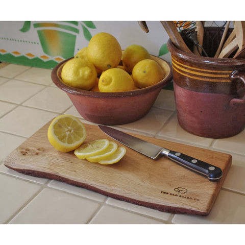 Lemon Board - Rustic Welsh Oak - Handmade
