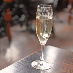 Champagne Flute / Glass - Llongyfarchiadau - Congratulations - NEW-Kitchen-The Welsh Gift Shop