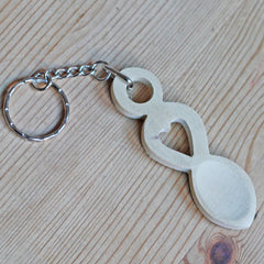 Keyring - Handmade Welsh Love Spoon-Accessory-The Welsh Gift Shop