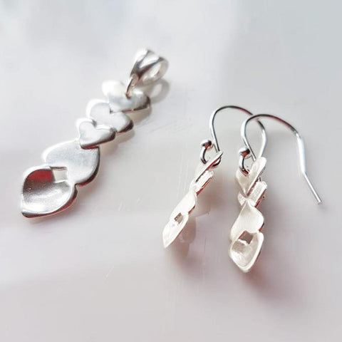 Earrings - Welsh Lovespoons - Handmade - Silver