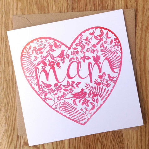 Card - Papercut Watercolour - Mam