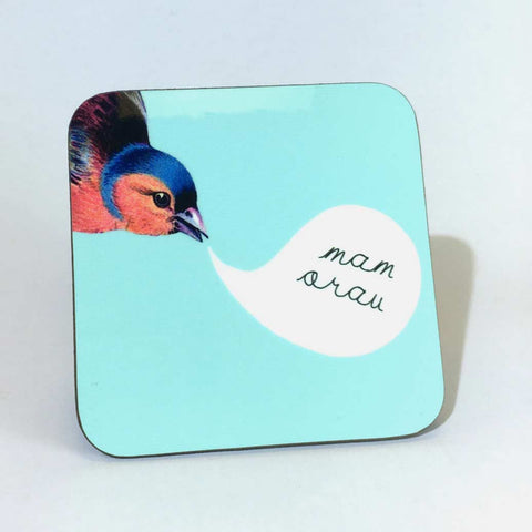 Coaster - Best Mum - Mam Orau - Bird-The Welsh Gift Shop