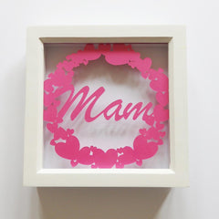 Framed Paper Cut - Heart Ring - Mam-Picture / SIgn-The Welsh Gift Shop