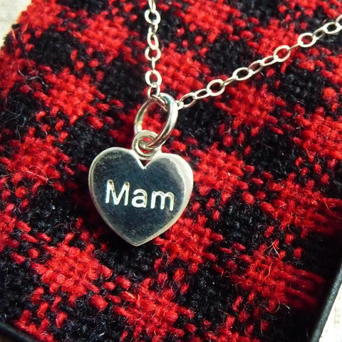 Pendant / Charm - Mother - Mam - Sterling Silver or Gold Plated