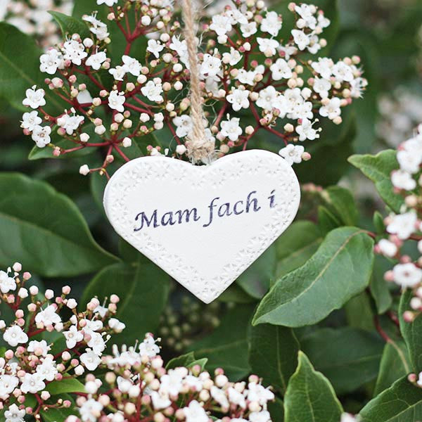 Heart Decoration - Dear Mother / Mam Fach i
