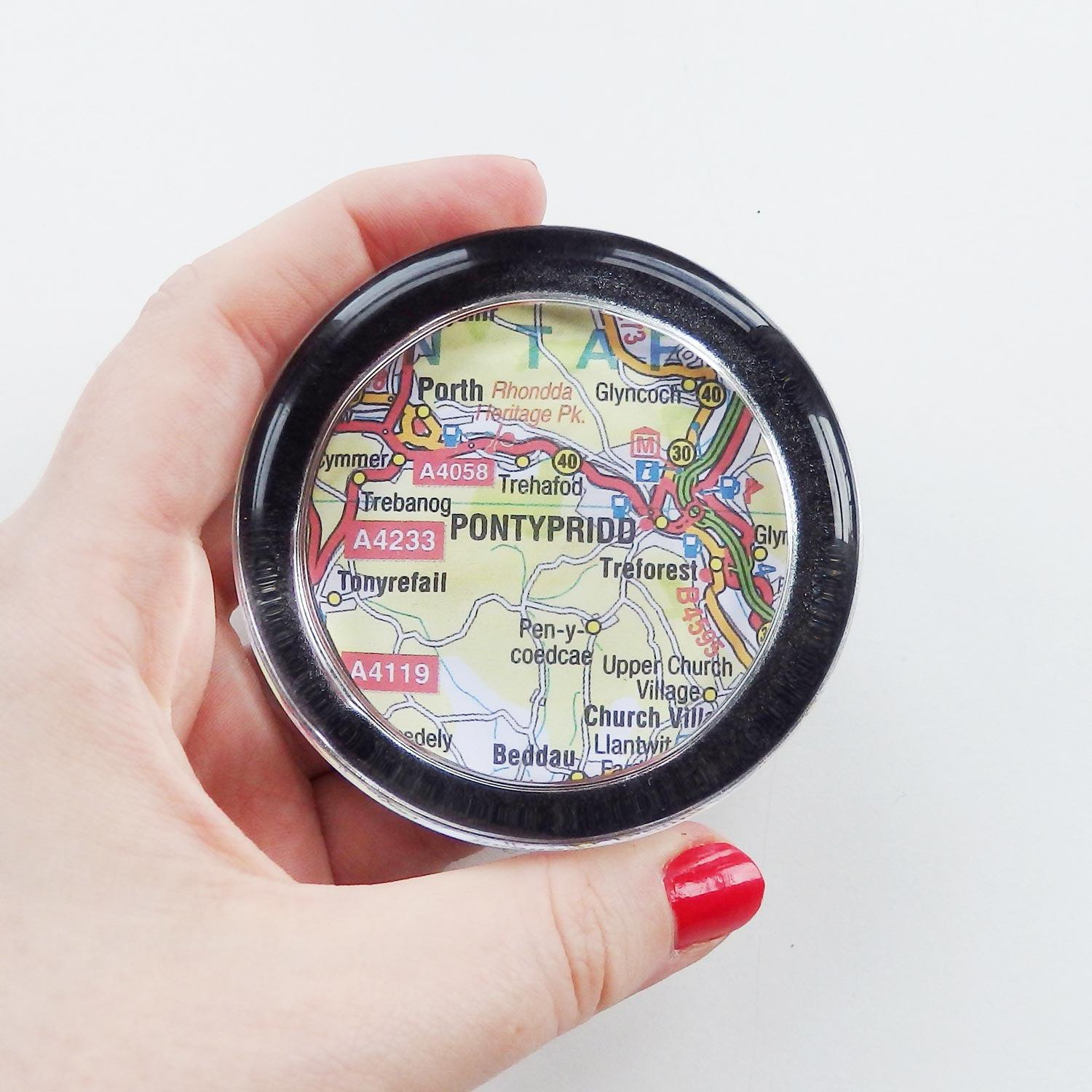 Paper Weight - Welsh Map Heart - Choose your Location-Accessory-The Welsh Gift Shop