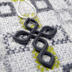 Necklace - Welsh Slate -  Celtic Cross