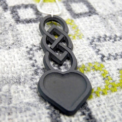 Necklace - Welsh Slate - Celtic Love Spoon-Jewellery-The Welsh Gift Shop