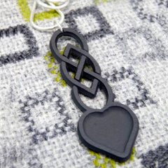 Necklace - Welsh Slate -  Celtic Love Spoon