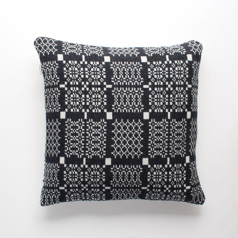Cushion Cover - Melin Tregwynt - Welsh Tapestry / Knot Garden - Graphite
