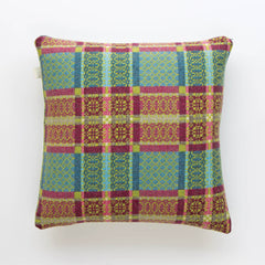 Cushion Cover - Melin Tregwynt - Welsh Tapestry / Knot Garden - Green