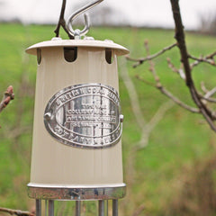 Miner's Lamp - Large - Cream-The Welsh Gift Shop