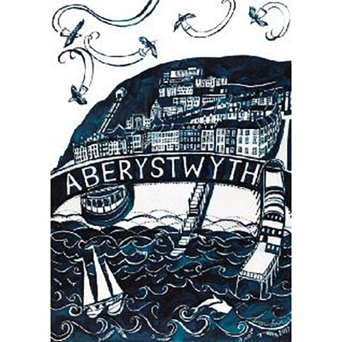 Poster / Print - Aberystwyth Mono - A3-The Welsh Gift Shop