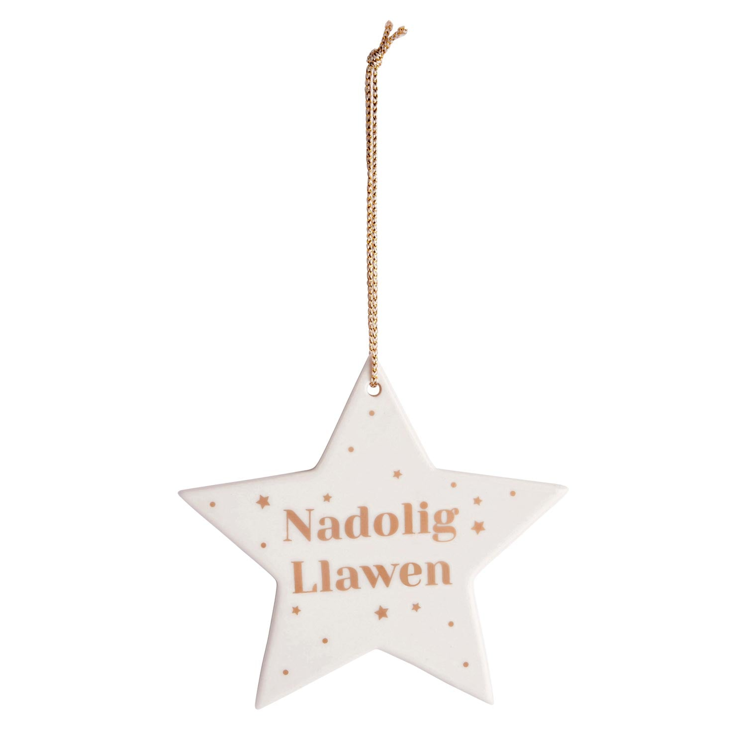 Christmas Decoration - Welsh star - Ceramic-The Welsh Gift Shop