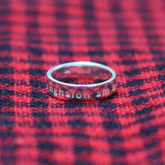 Ring - Yn Fy Nghalon Am Byth - Sterling Silver or Gold Plated